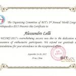 Attestato partecipazione WCORT 2015